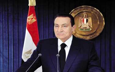 مبارك يعلن إجراءات الانتقال السلمى للسلطة