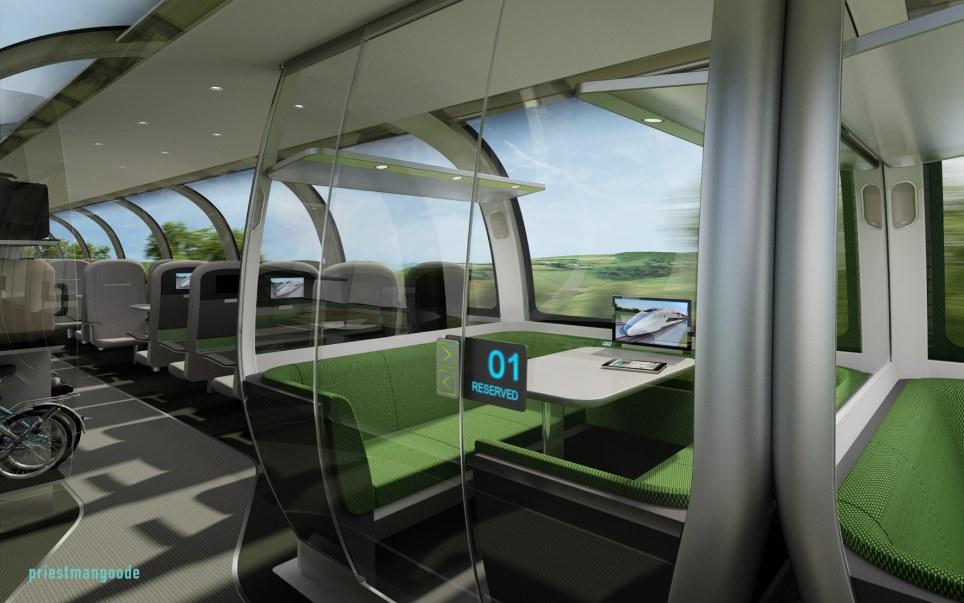 Futuristic Train Interior I like this one a lot